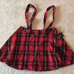 Gryffindor themed plaid skirt